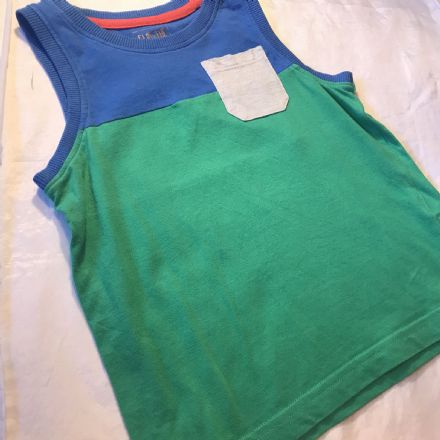 4-5 Year Green and Blue Vest Top
